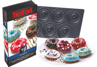 TEFAL XA8011 Set di piastre Snack Collection Ciambelle - Nero - piastra donut